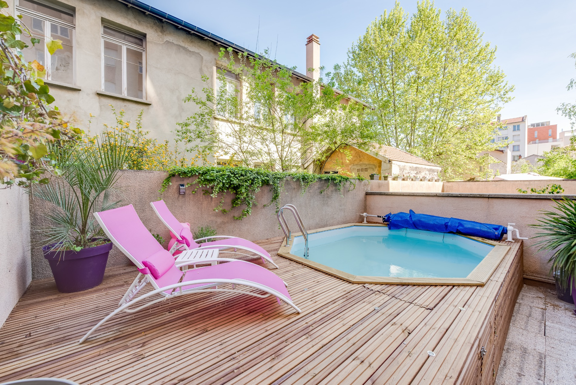 Vente appartement t3 piscine privee rare villeurbanne for Piscine villeurbanne